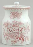 Burleigh Asiatic Pheasants pink Storage Jar SUGAR