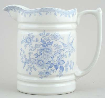Burleigh Asiatic Pheasants Jug or Pitcher Banded Churn