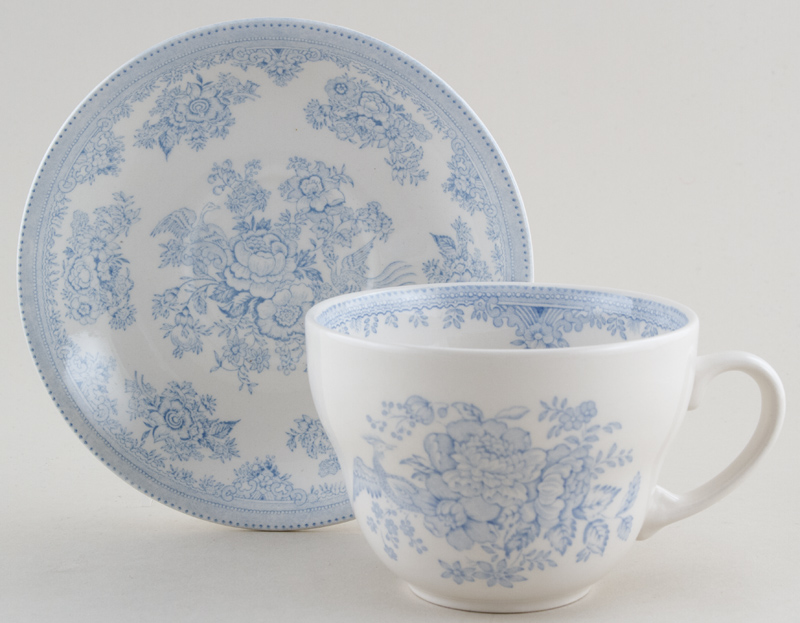 Burleigh Asiatic Pheasants Breakfast Cup and Saucer