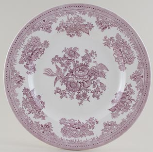 Burleigh Asiatic Pheasants plum Plate large