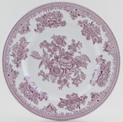 Burleigh Asiatic Pheasants plum Dinner Plate