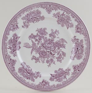 Burleigh Asiatic Pheasants plum Lunch Plate