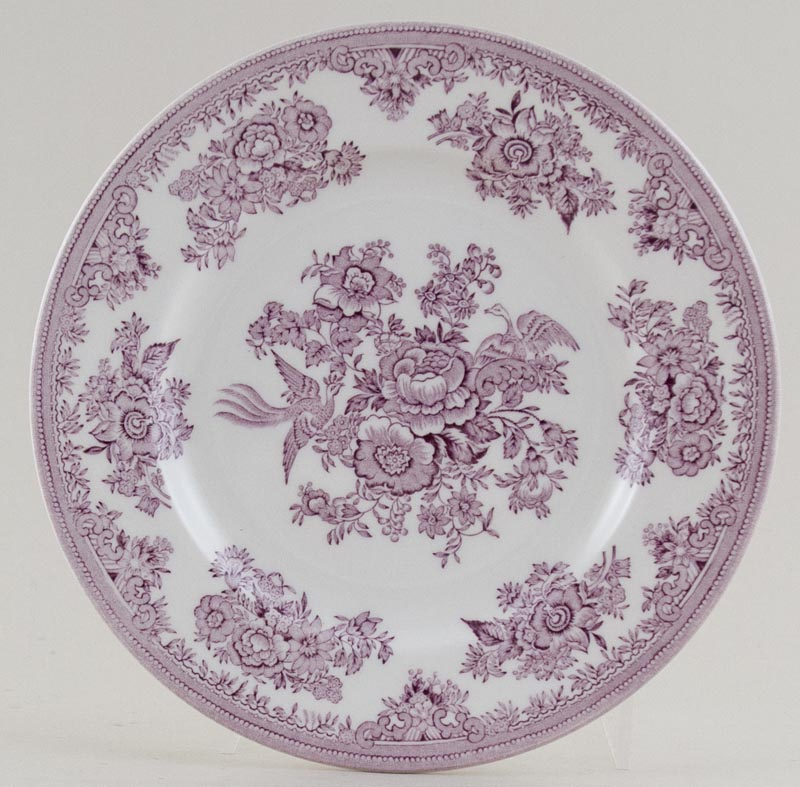 Burleigh Asiatic Pheasants plum Side or Cheese Plate