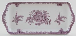 Burleigh Asiatic Pheasants plum Sandwich Tray