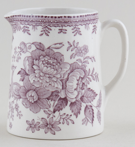 Burleigh Asiatic Pheasants plum Jug or Creamer Tankard mini