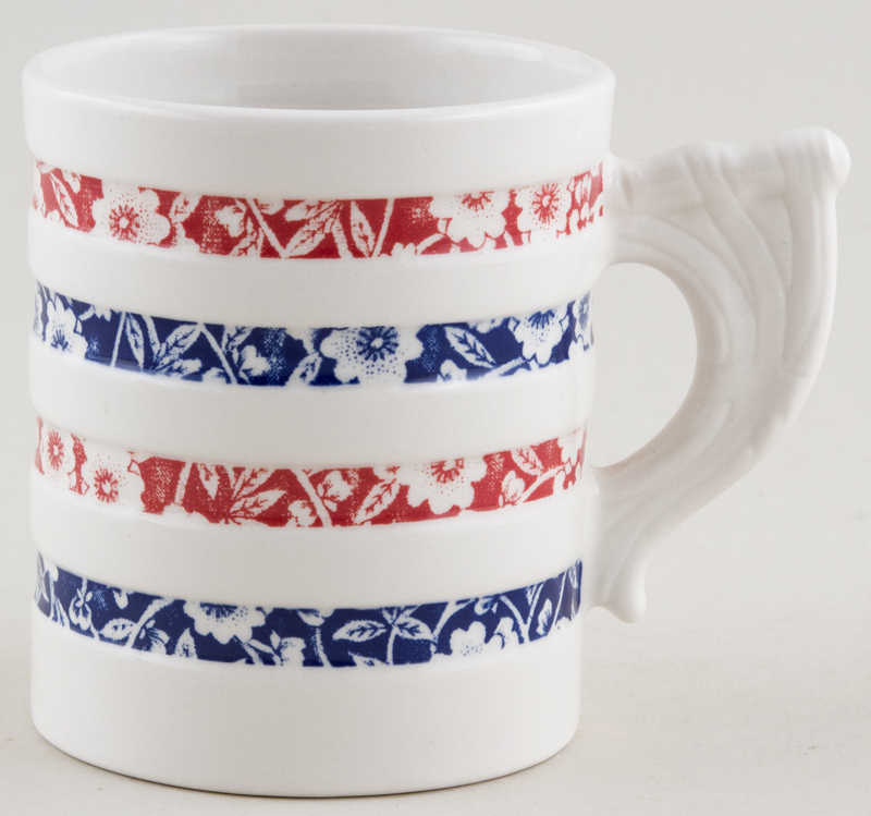 Burleigh Calico Mug Hooped Red and Blue