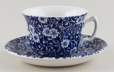 Burleigh Calico Teacup and Saucer