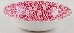 Burleigh Calico red Dessert or Soup Bowl
