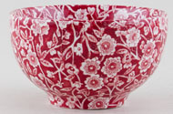 Burleigh Calico red Sugar Bowl medium