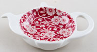 Burleigh Calico red Teabag Tidy in Gift Box