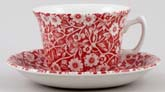 Burleigh Calico red Teacup and Saucer