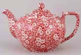 Burleigh Calico red Teapot large