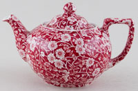 Burleigh Calico red Teapot small