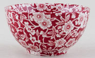 Burleigh Calico red Sugar Bowl small