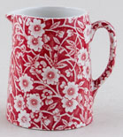 Burleigh Calico red Jug or Creamer Tankard mini