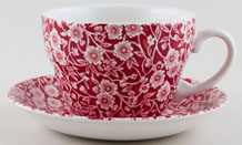 Burleigh Calico red Breakfast Cup and Saucer