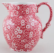 Burleigh Calico red Jug or Pitcher Etruscan small