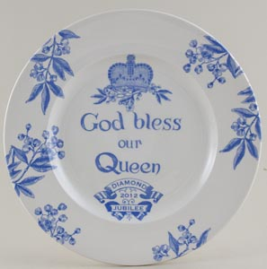 Burleigh Diamond Jubilee Commemorative Plate