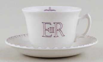 Burleigh Queen's Birthday Commemorative Teacup and Saucer