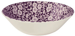 Burleigh Calico mulberry Cereal or Dessert Bowl