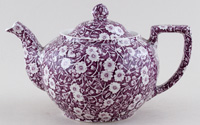 Burleigh Calico mulberry Teapot large