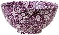 Burleigh Calico Mulberry Sugar Bowl large