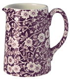 Burleigh Calico mulberry Jug or Pitcher Tankard small