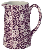Burleigh Calico mulberry Jug or Pitcher Tankard medium