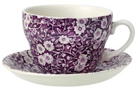 Burleigh Calico mulberry Breakfast Cup and Saucer