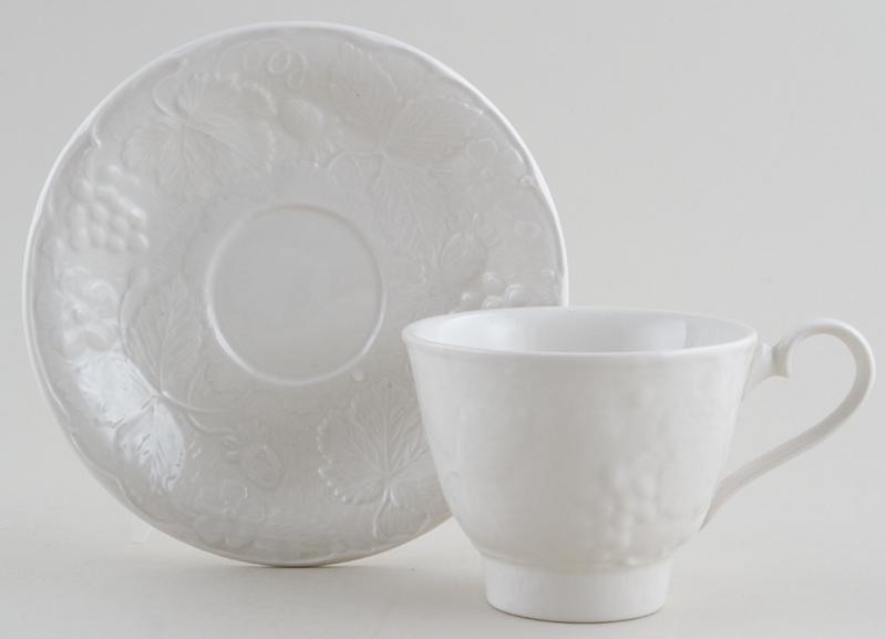 Burleigh Davenport white Teacup and Saucer