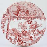 Burleigh Engravers Collection pink Lunch Plate Accent