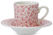 Burleigh Felicity rose pink Espresso Cup and Saucer