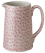 Burleigh Felicity rose pink Jug or Pitcher Tankard medium