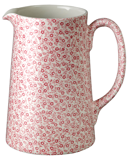 Burleigh Felicity rose pink Jug or Pitcher Tankard large