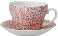 Burleigh Felicity rose pink Breakfast Cup and Saucer