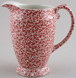 Burleigh Felicity red Jug or Pitcher Princess