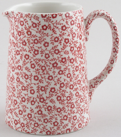 Burleigh Felicity red Jug or Pitcher Tankard small