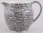 Burleigh Felicity black Jug or Pitcher Dutch large