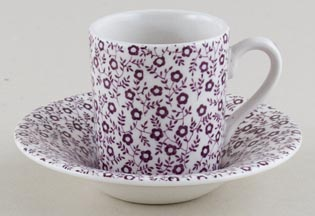 Burleigh Felicity mulberry Espresso Cup and Saucer