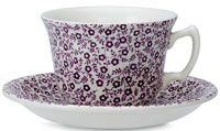 Burleigh Felicity mulberry Teacup and Saucer
