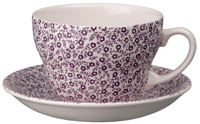 Burleigh Felicity mulberry Breakfast Cup and Saucer