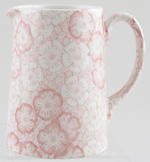Burleigh Gentian pink Jug or Pitcher Tankard small