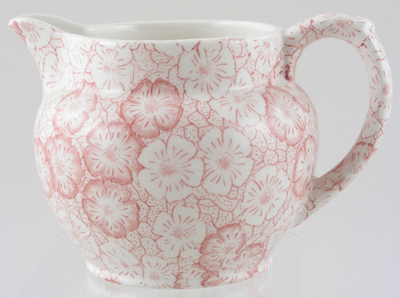 Burleigh Gentian pink Jug or Pitcher Dutch small