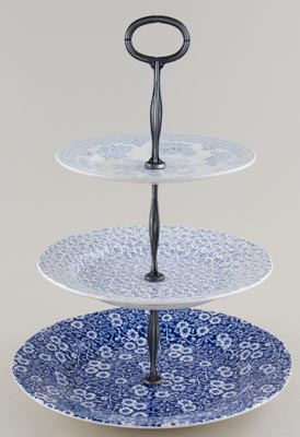 Burleigh Calico Felicity and Asiatic Pheasants Cake Stand 3 tier in Gift Box