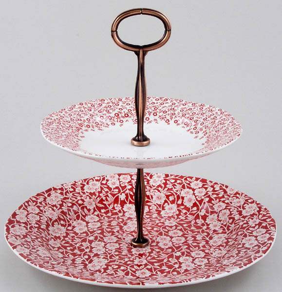 Burleigh Calico and Felicity red Cake Stand 2 tier