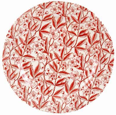 Burleigh Prunus red Salad or Dessert Plate