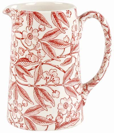 Burleigh Prunus red Jug or Pitcher Tankard medium