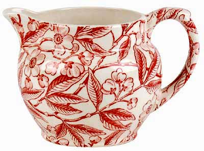 Burleigh Prunus red Jug or Pitcher Dutch small