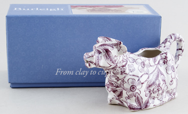 Burleigh Prunus plum Cow Creamer Boxed