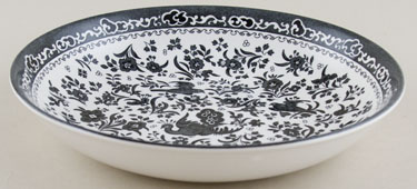 Burleigh Regal Peacock black Pasta Bowl